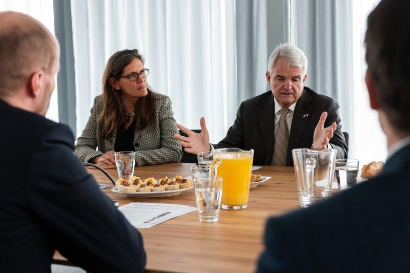 U.S. Ambassador visiting JIC Brno