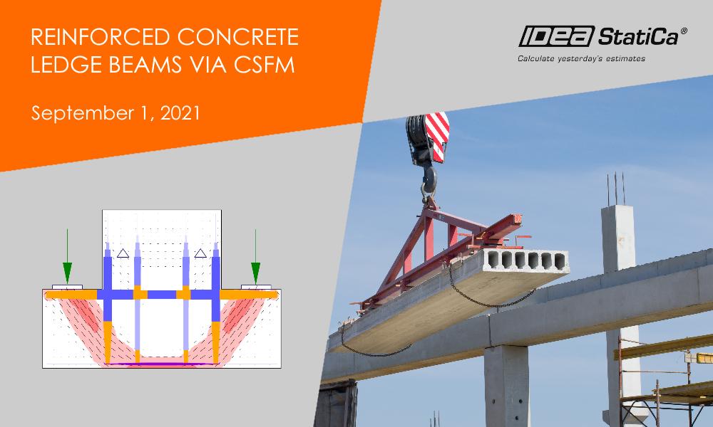 Reinforced concrete ledge beams via CSFM