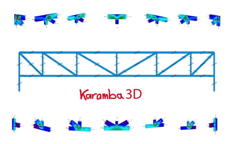 Parametric joint design of steel constructions with KarambaIDEA