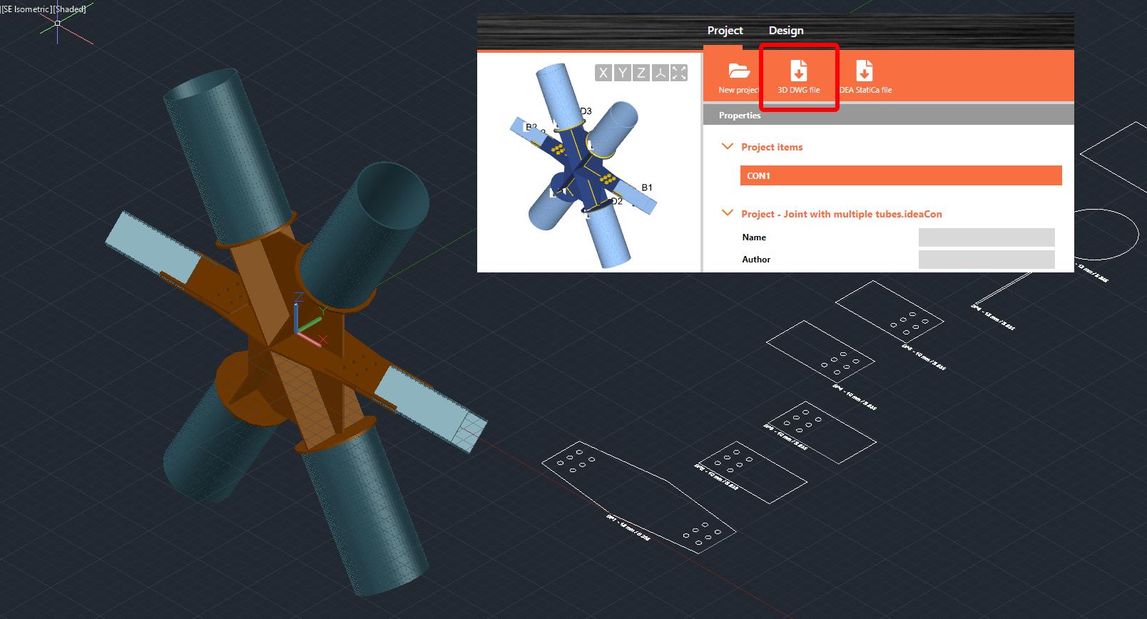 Online viewer 3D DWG importeren in CAD