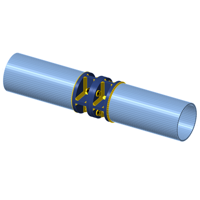 Tubular joint with stiffeners