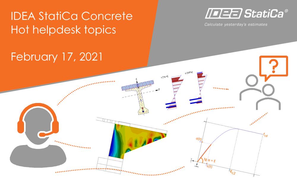 IDEA StatiCa Concrete - Hot helpdesk topics