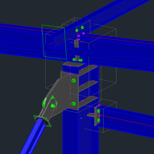Code check for any steel connection at the BIM table