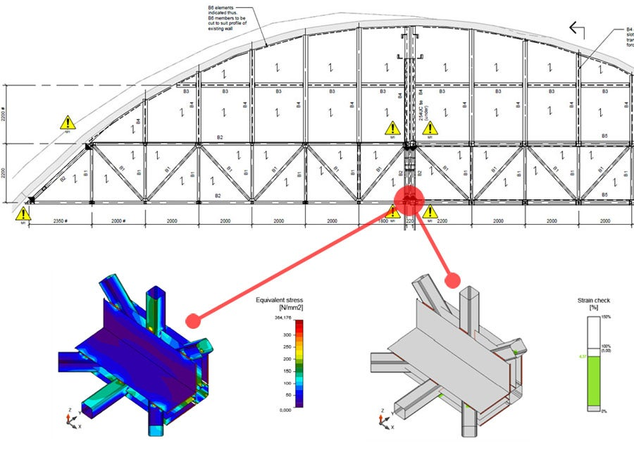 Connection design optimization on Heathrow Airport bridge truss