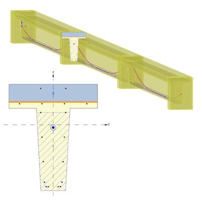 Continuous composite bridge