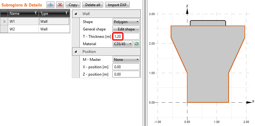 Pier cap from DXF - Thickness