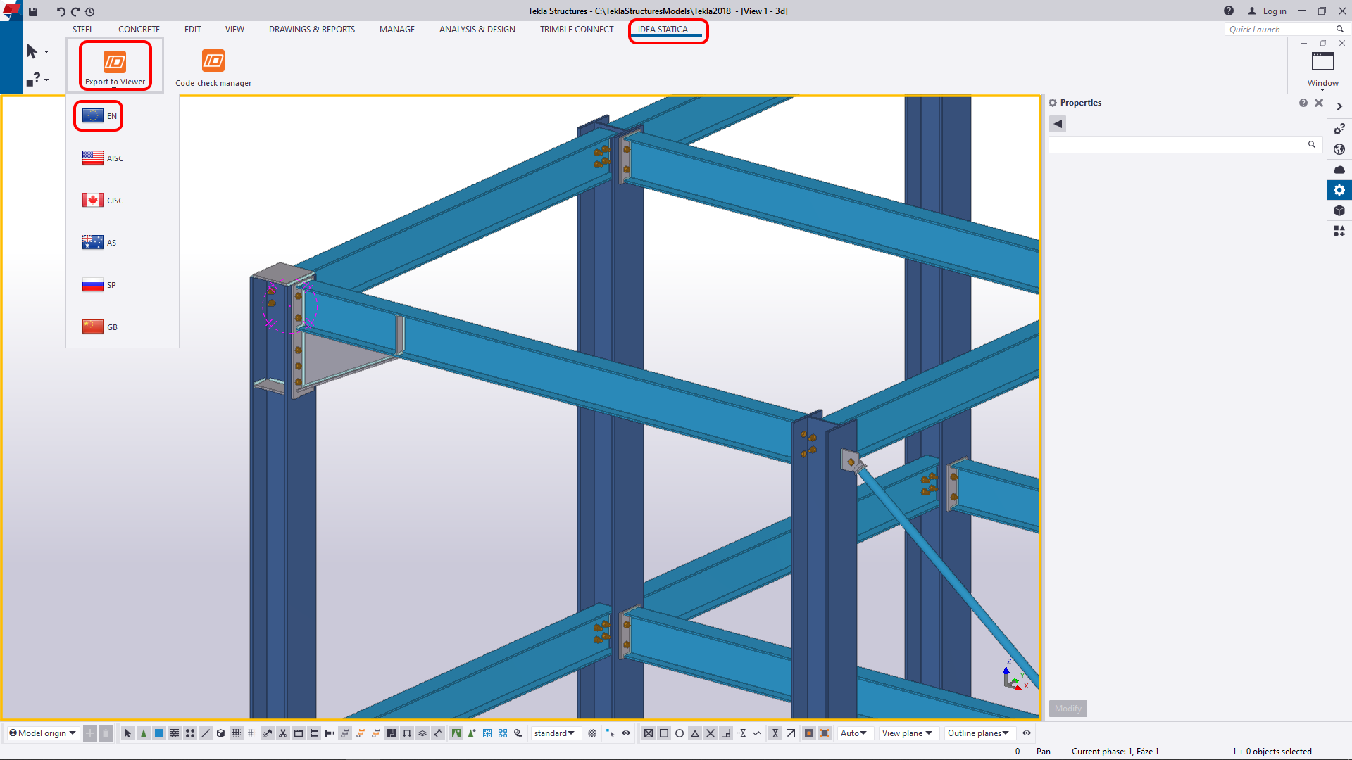 IDEA StatiCa Viewer for Tekla Structures
