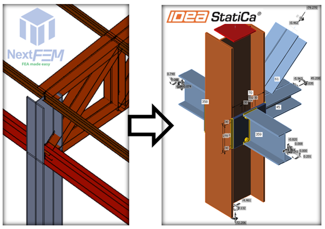 Export of a steel connection from NextFEM to IDEA StatiCa