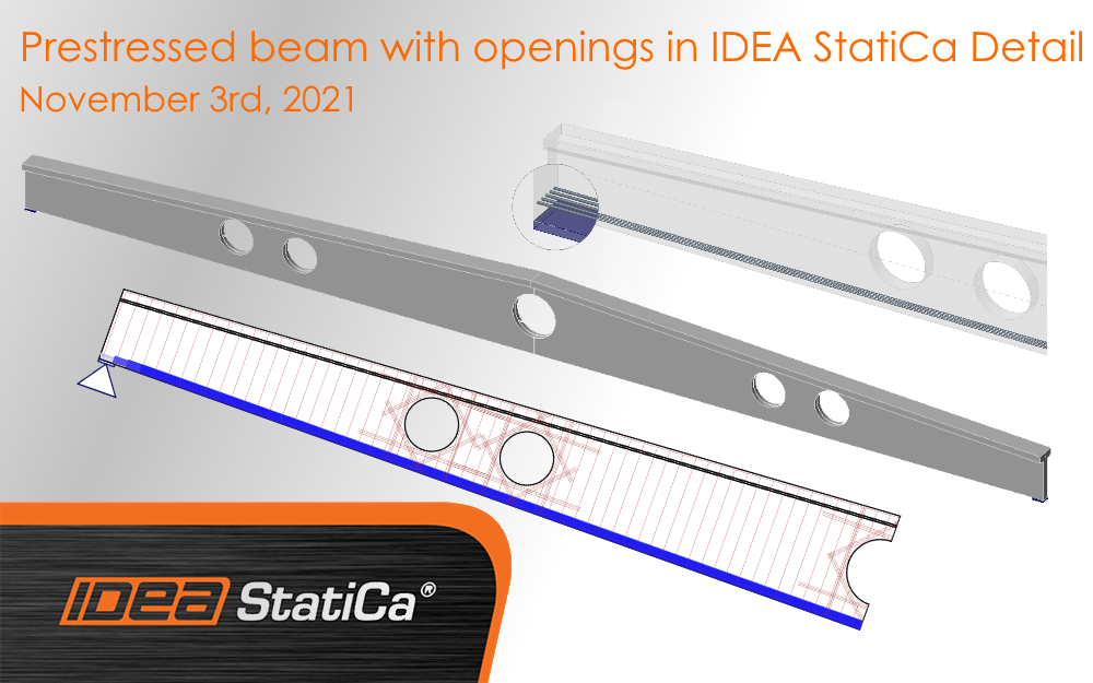 Prestressed beam with openings in IDEA StatiCa Detail