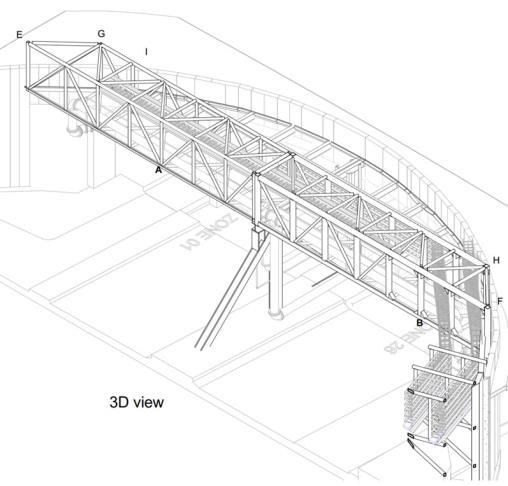 Permanent Service Bridge truss at Heathrow airport