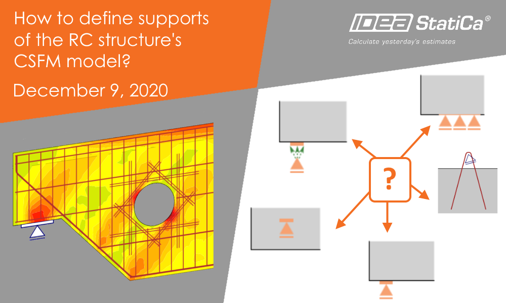 How to define supports of the RC structure's CSFM model?