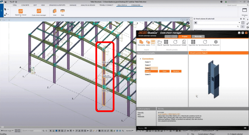 Bulk selection & export from CAD and FEA software