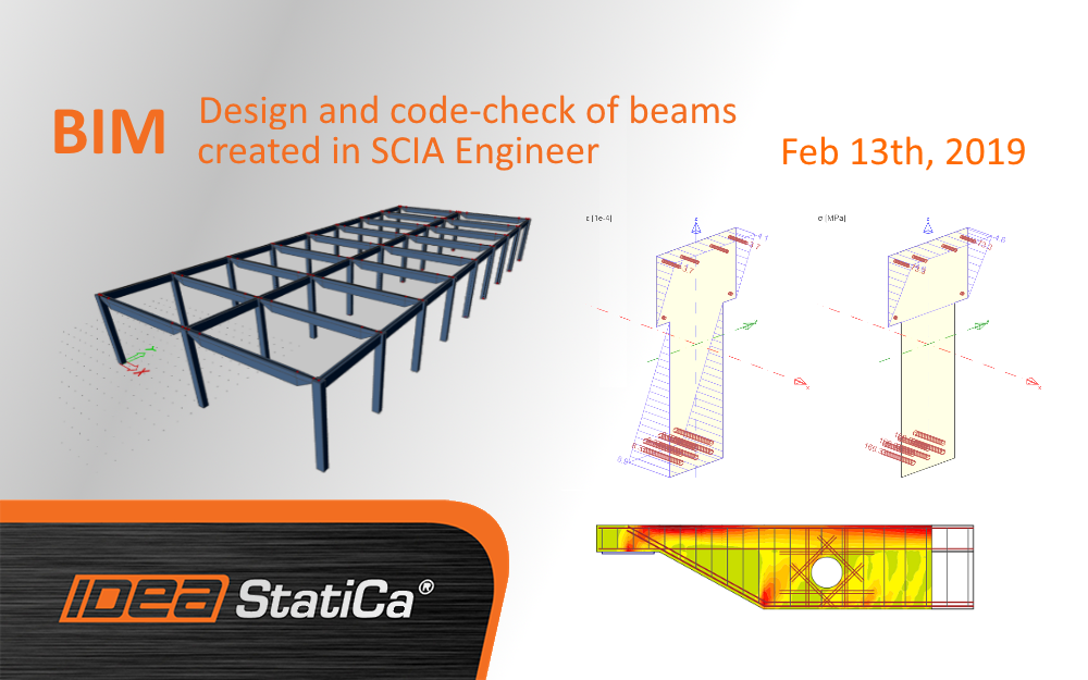 BIM – Design and code-check of beams created in SCIA Engineer