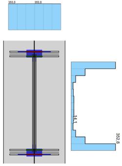 vloeien van het lijf van de kolom in IDEA StatiCa