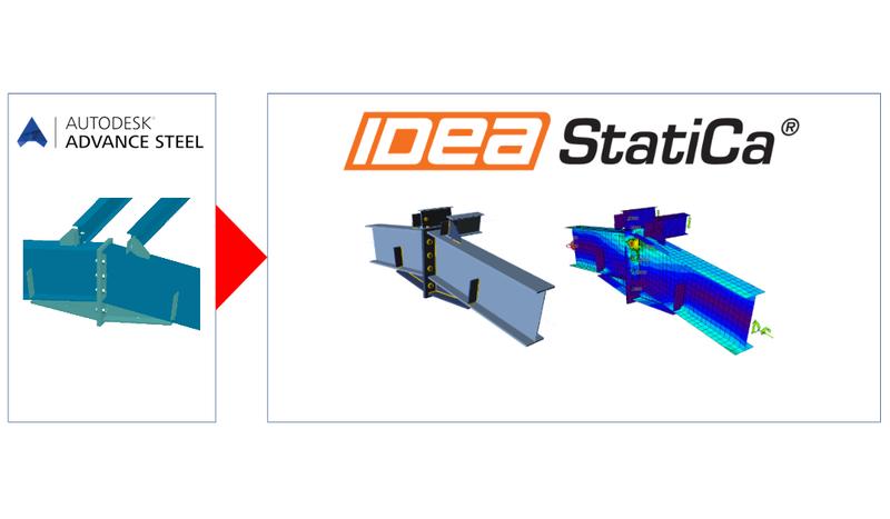 Exportujte libovolný ocelový styčník z Autodesk Advance Steel do IDEA StatiCa