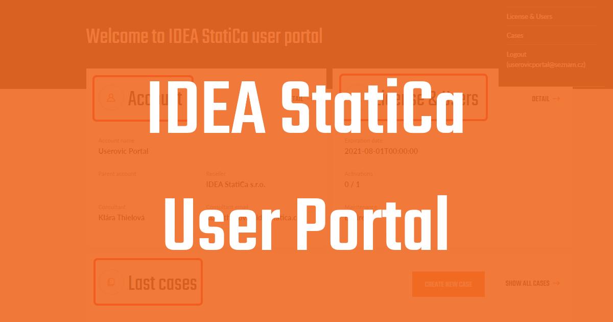 IDEA StatiCa User Portal