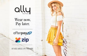 ZipPay and Afterpay now at Ally Fashion