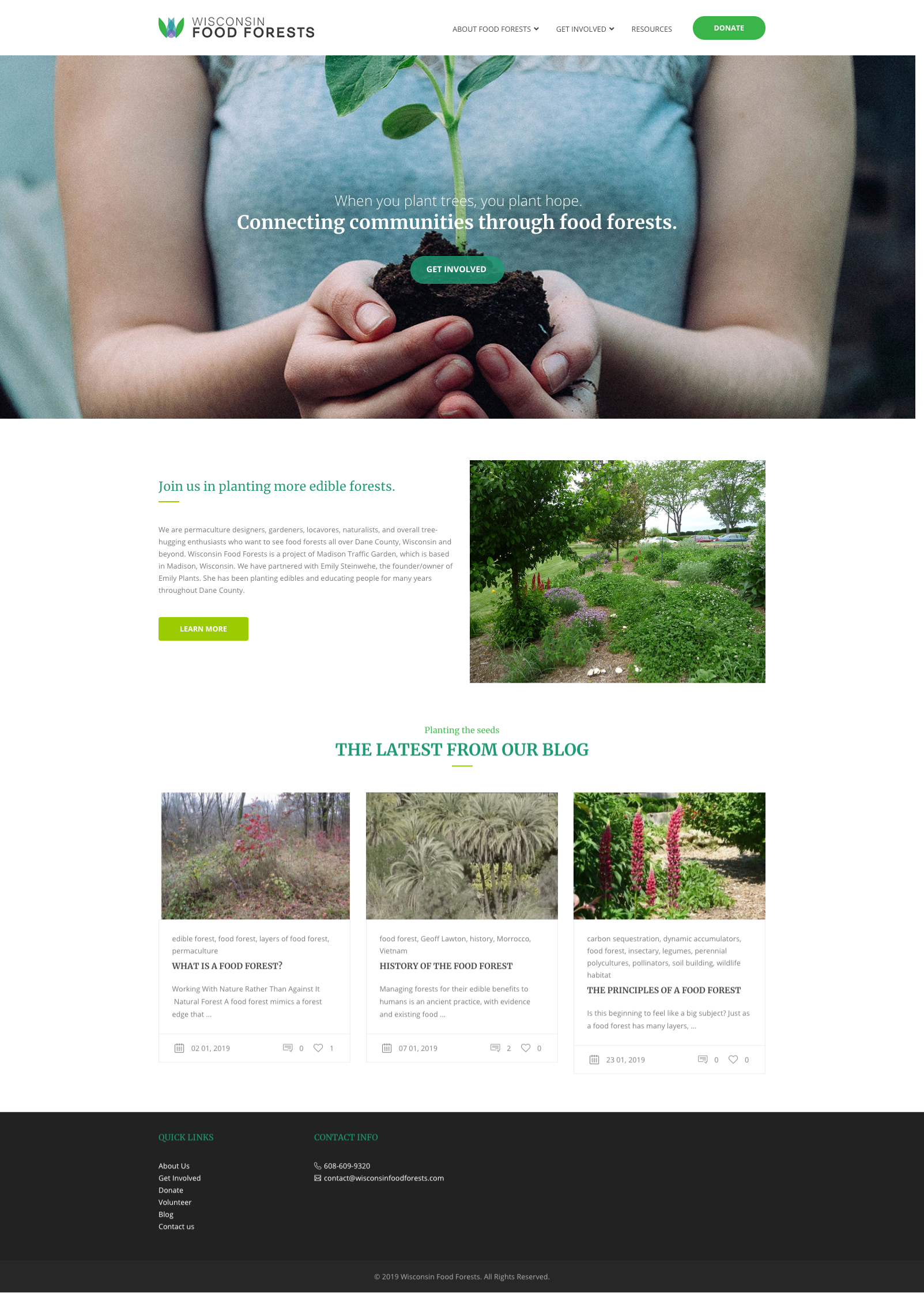 Wisconsin food forests home page