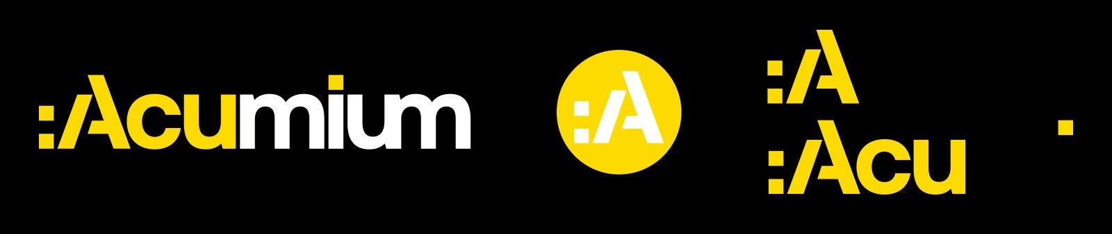 Acumium design logo evolution