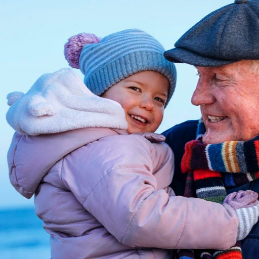 grandfather with grandaughter - British Seniors