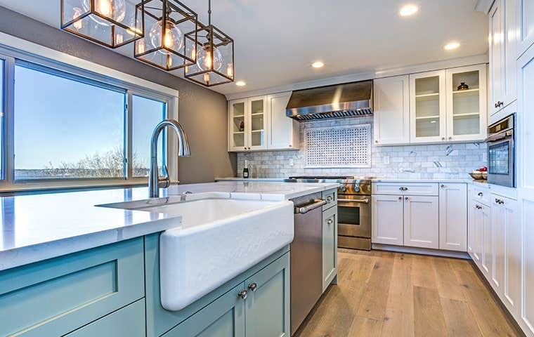 clean kitchen in a residential home