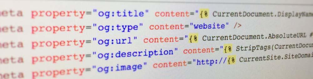 Open graph meta tags enhanced by Kentico macros