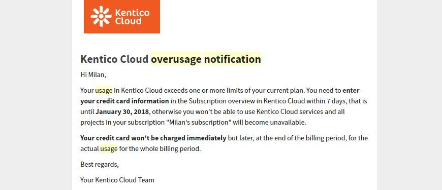 Using Kentico Cloud Asset library can cost you