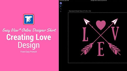 creating love design in Easy View