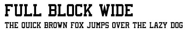 FullBlockWide font