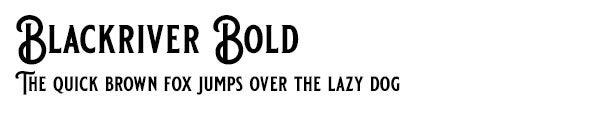 Blackriver Bold font