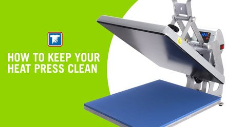 how to keep your heat press clean