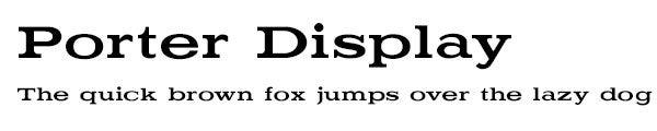 Porter Display font