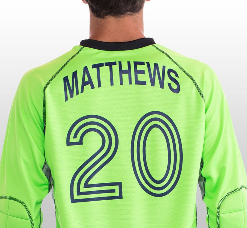 arched name on jersey