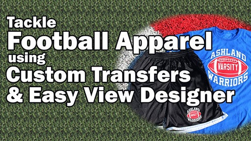 custom football apparel using heat applied transfers