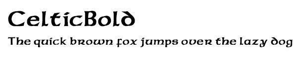 CelticBold font