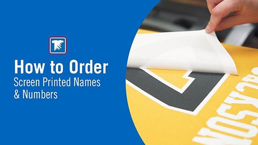 how to order screen printed names and numbers