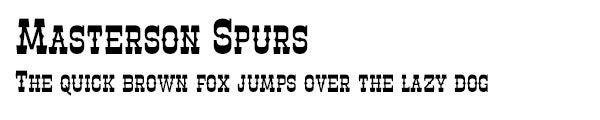 Masterson Spurs font