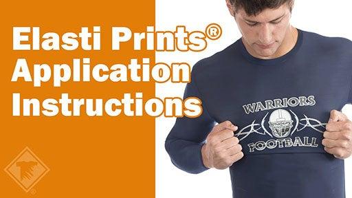 Elasti Prints application instructions