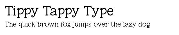 Tippy Tappy Type font