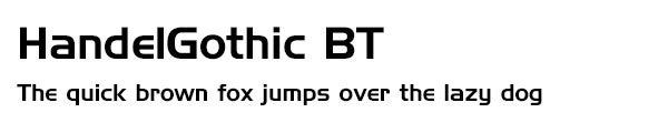 HandelGothic BT font