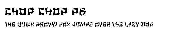 Chop Chop PB font
