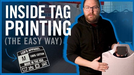 printing inside shirt tags with a heat press