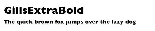 GillsExtraBold font