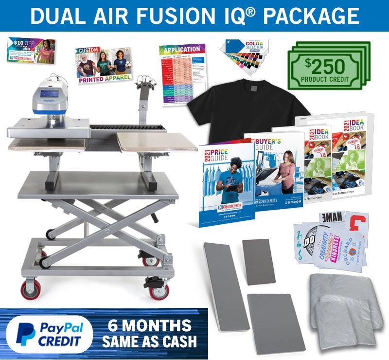 Dual Air Fusion heat press package