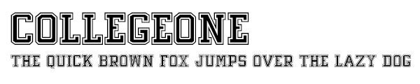 CollegeOne font