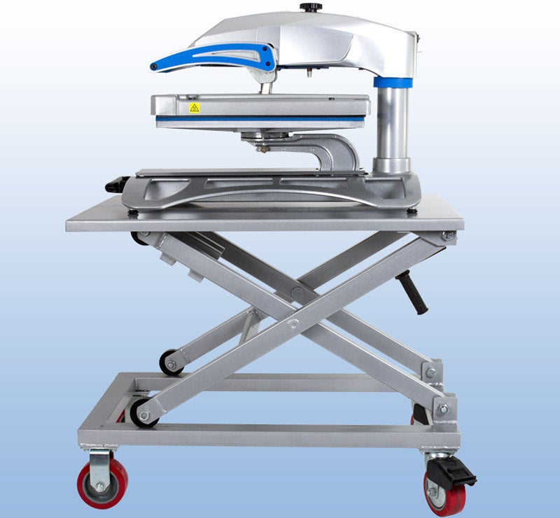 equipment cart with Fusion heat press