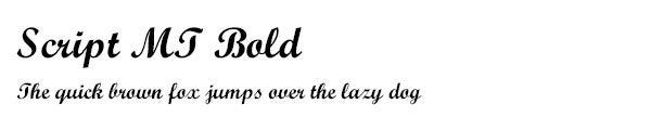 Script MT Bold font
