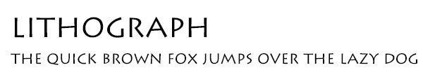 Lithograph font
