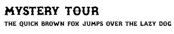 Mystery Tour font