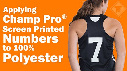 screen printed numbers for polyester